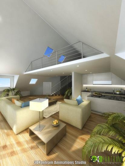 Home 3d interior rendering design cv