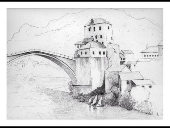 Pencil study bridge cv
