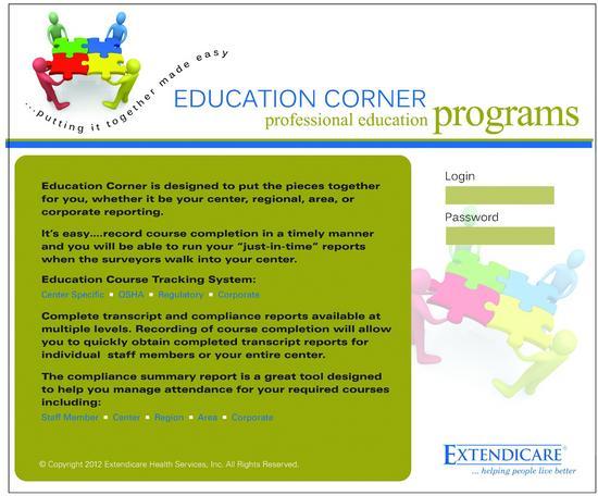 Extendicare education program cv