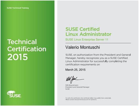 Suse certified jpeg cv