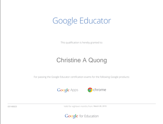 Google educator certificate thumb