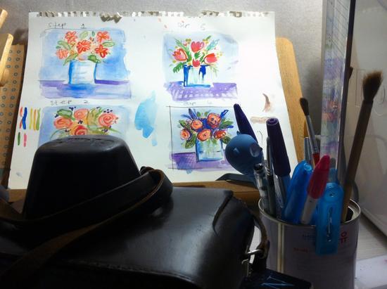 Watercolour tut cv