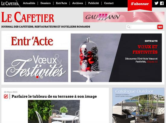 Le cafetier   journal des cafetiers  restaurateurs et hoteliers romands cv