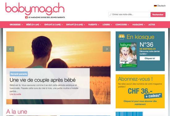 Babymag ch   le magazine suisse des jeunes parents cv