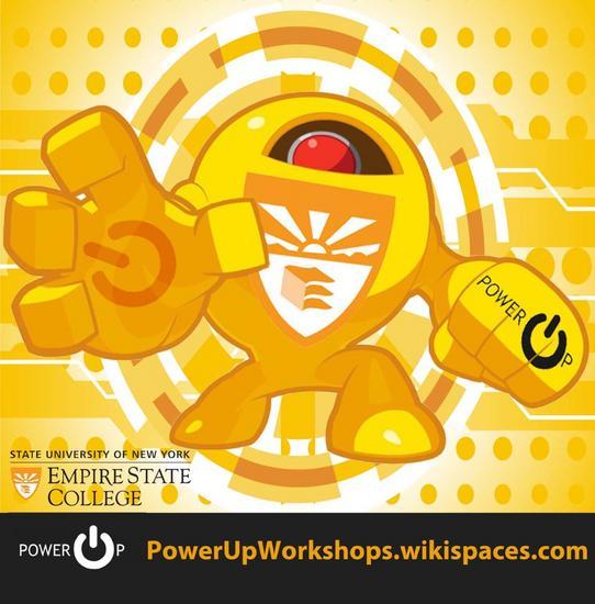 Powerup logo text cv