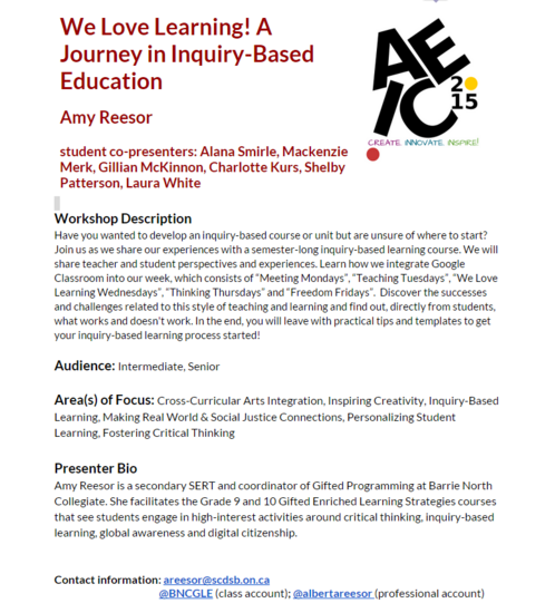 2 we love learning  a journey in inquiry based education   google docs cv