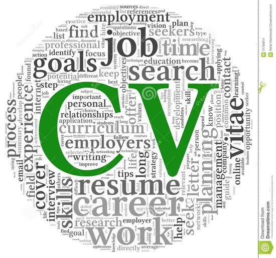 Curriculum vitae concept word tag cloud cv white background 31766814 thumb