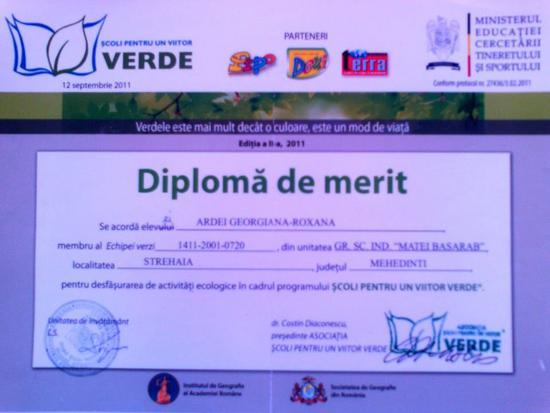 Diploma merit cv