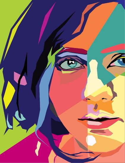 Wedha pop art portrait wpap  cv