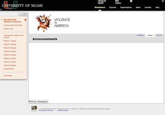 Umiami violenceinamerica blackboard entrypage sample cv