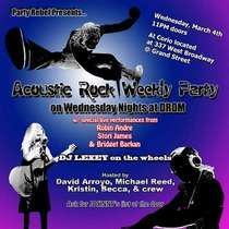 Acoustic rock weekly party on wednesday nights at drom 800 cv