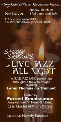 Smooth sundays with live jazz all night 800 cv