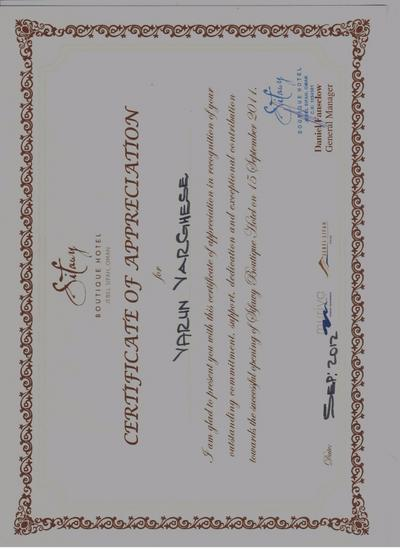 Sifawy   certificate of appreciation cv