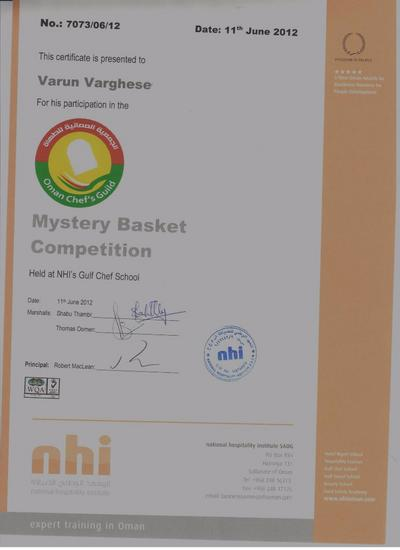 Mystery basket competition cv