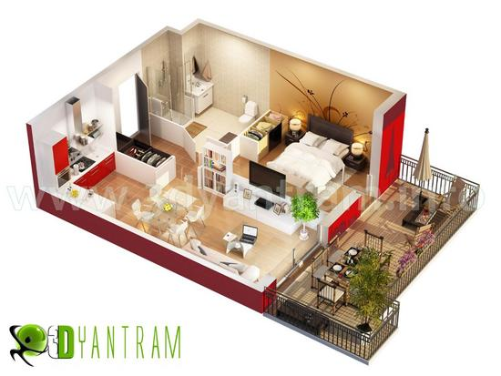 Home 3d floor plan cv