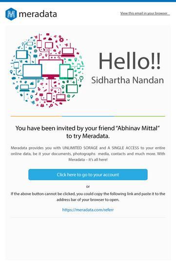 Meradata welcome mailer 1  cv