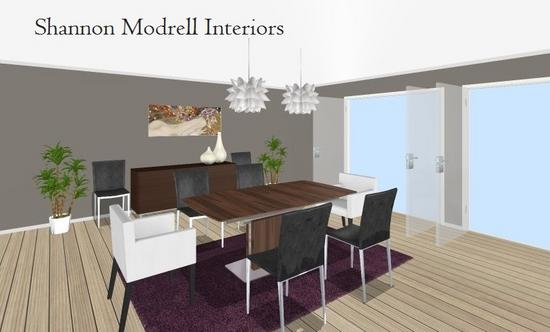 Contemporaray purple lr and dr rendering  11  cropped shannon modrell interiors cv