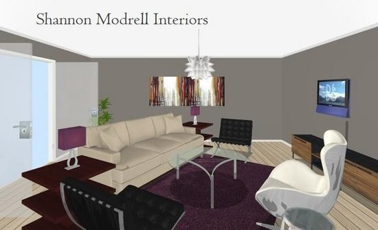 Contemporaray purple lr and dr rendering  17  cropped shannon modrell interiors cv