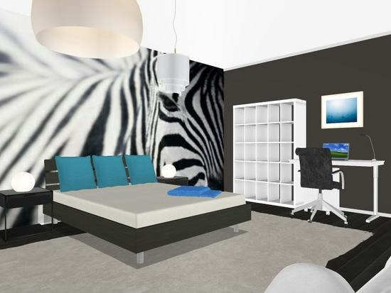 Teen son zebra room  1  shannon modrell interiors cv
