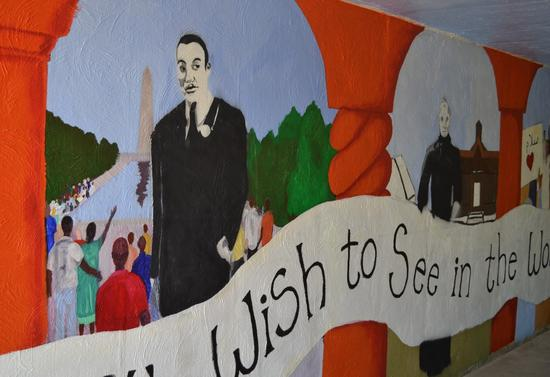Mural east wall cv