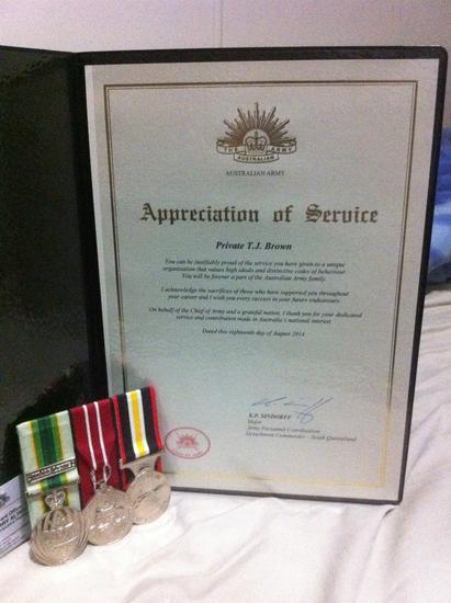 Certificate of service cv