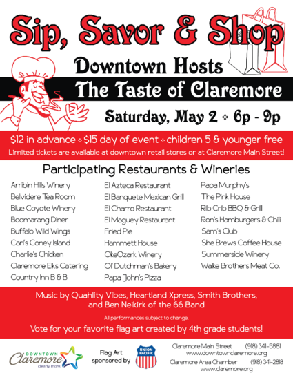 The taste of claremore 2015 poster cv