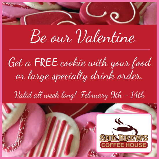 She brews valentine cookie cv