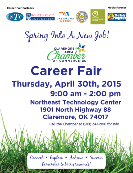 Career fair 2015 poster with phone cv
