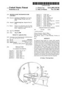 Patent 6485120 drawer guide cv