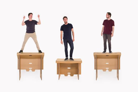 Refold cardboard standing desk new zealand designboom 11 cv