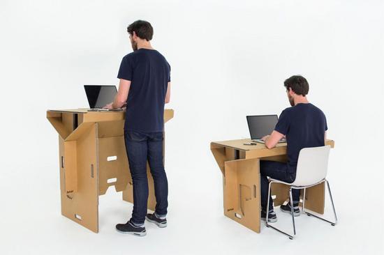 Refold cardboard standing desk new zealand designboom 06 cv
