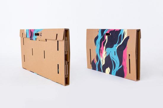 Refold cardboard standing desk new zealand designboom 10 cv
