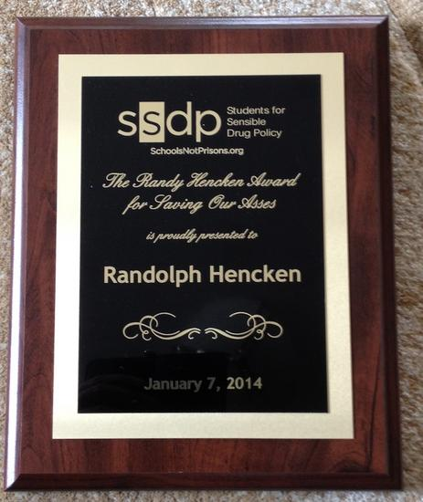 Randy hencken award for saving our asses cv