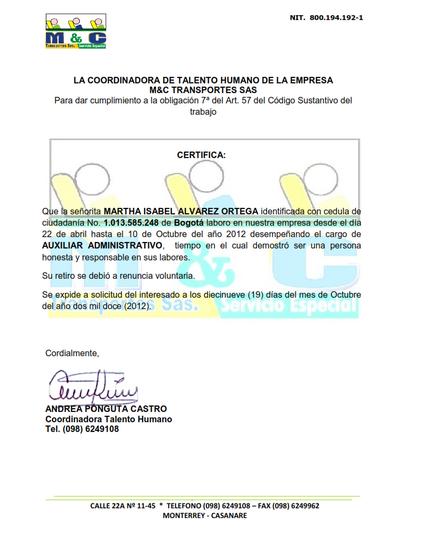 Certificacion myc cv