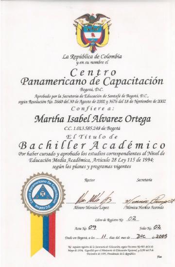 Diploma bachil cv