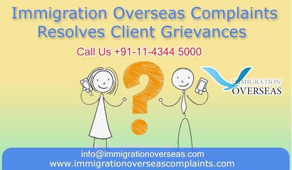 Immigration overseas complaints 1 cv