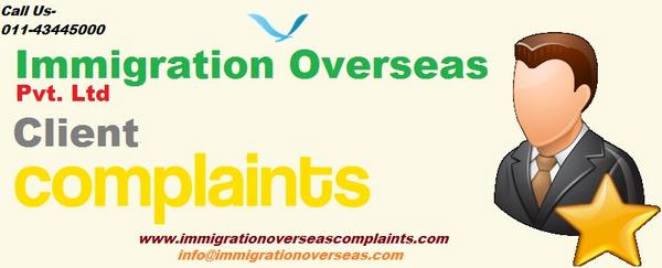 Immigration overseas complaints 13 cv