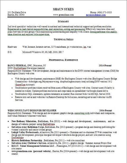 Generic resume thumb