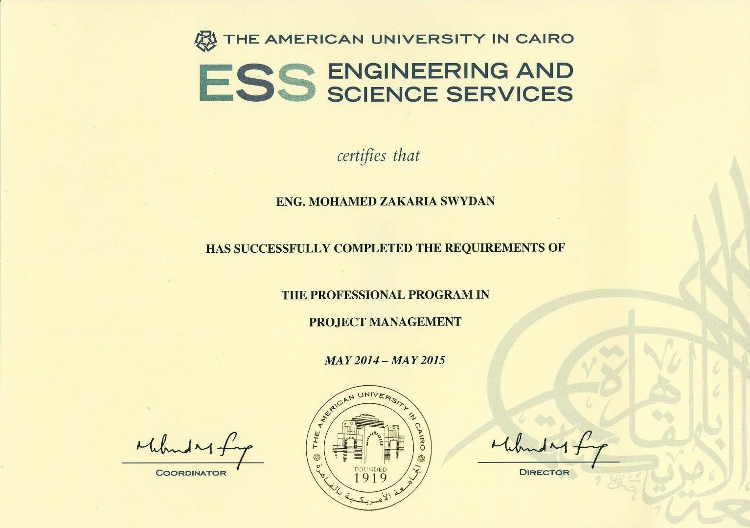 Mohamed Swydan Cem 174 Pmp 174 Prmg Project Management