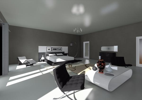 Bedroom interior 1 cv
