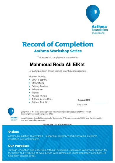 Asthma workshop series for health professionals record of completion 5585 page 001 cv