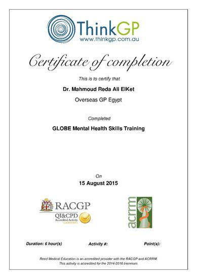 Globe mental health skills training page 001 cv