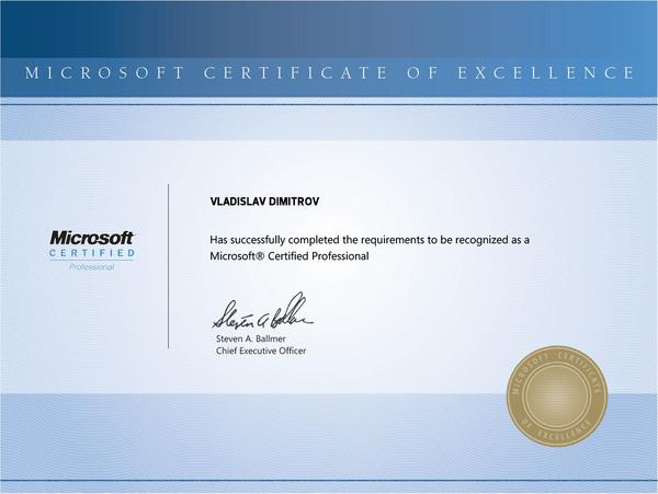 Microsoft certified professional cv