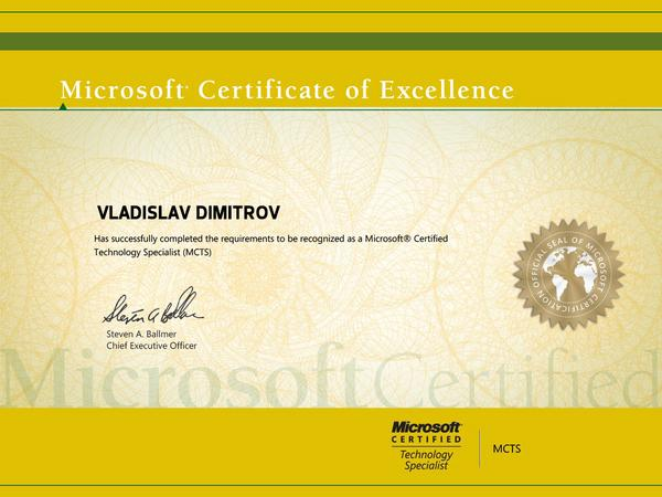 Microsoft certified technical specialist cv