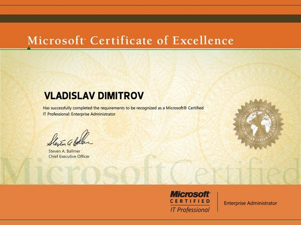 Microsoft certified it professional cv