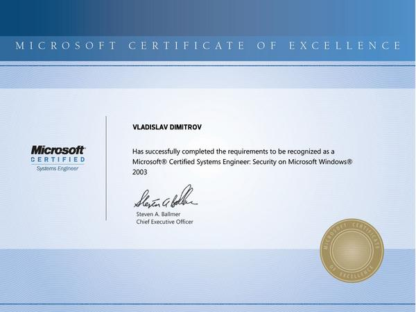 Microsoft certified systems engineer  security cv