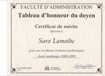 Certificat de merite 2001 cv