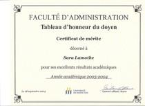 Certificat de merite 2004 cv