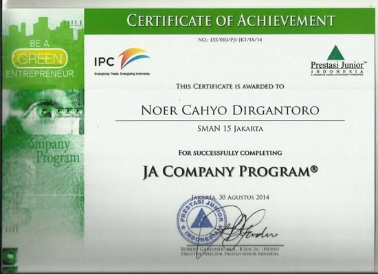 Sertifikat ja company cv