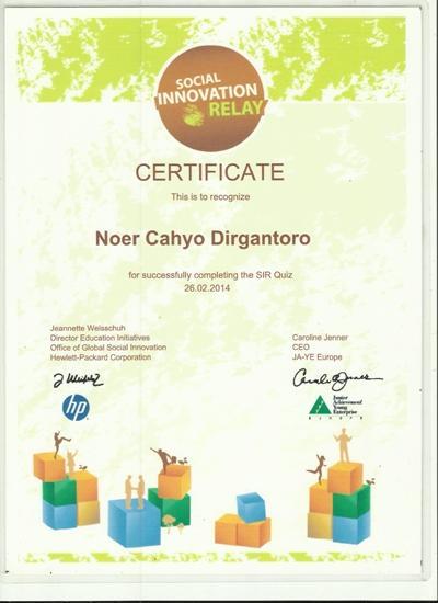 Sertifikat social innovation cv